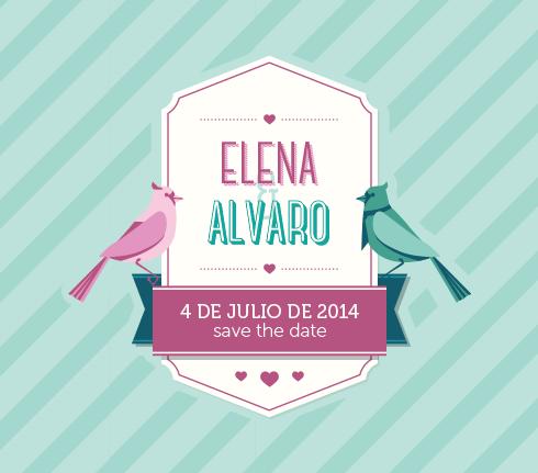 El logo de Elena y Álvaro