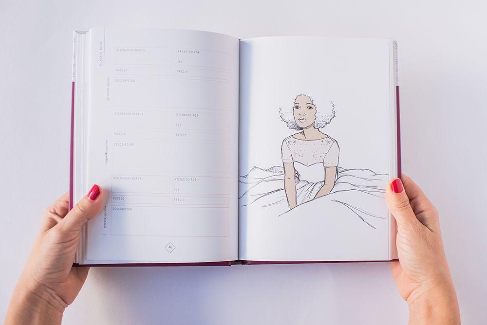Ilustración novia Planificador de Weddings With Love