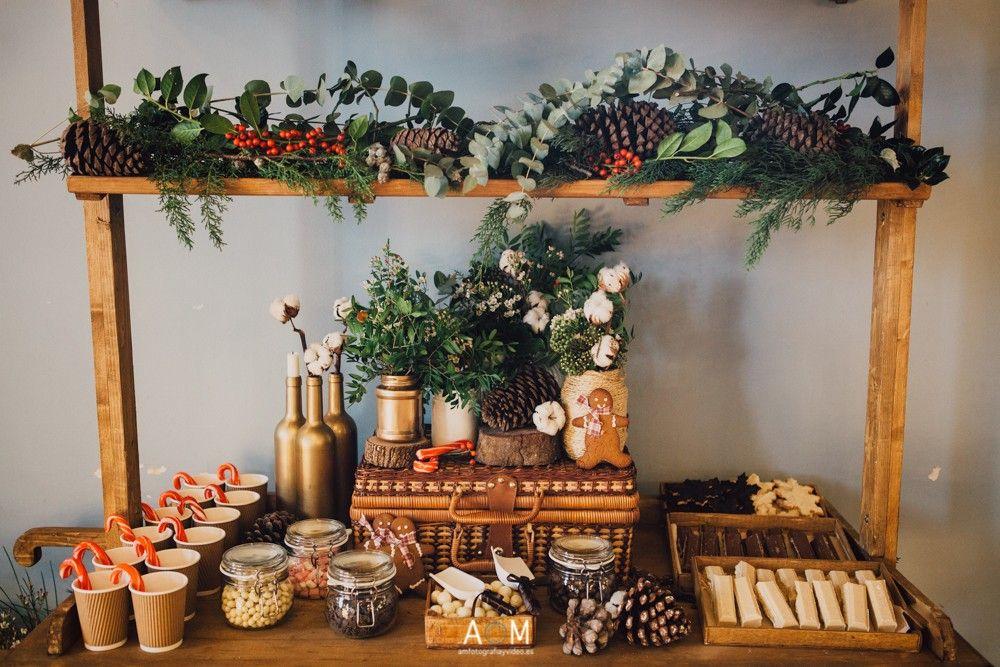 crear un candy bar Navidad Bodas