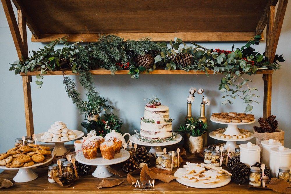 candy bar para bodas Navideñas