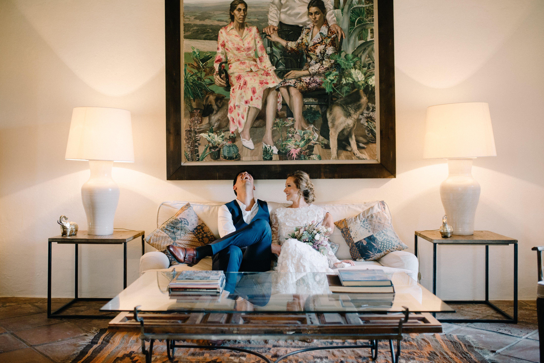 La boda de Géraldine y Jan en Hacienda San Rafael