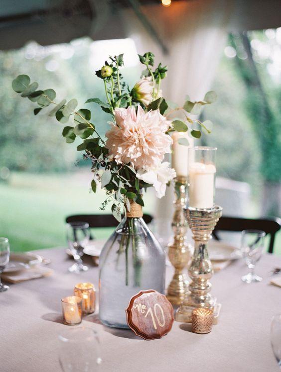 Ideas originales con botellas y botes de cristal para tu boda Low Cost