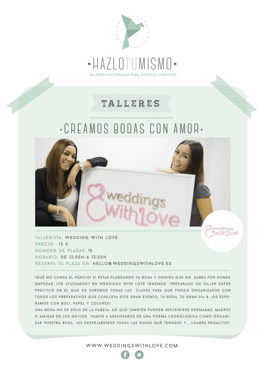 Las claves para organizar tu boda – Taller con Weddings With Love