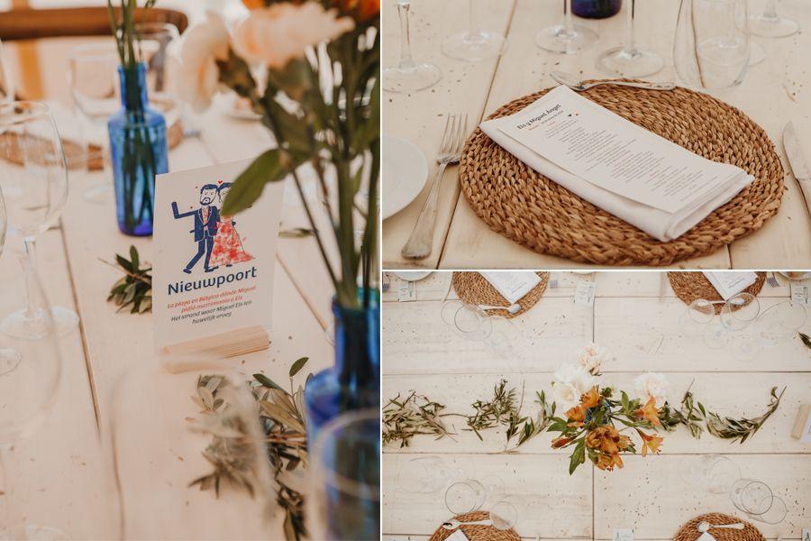decoración mesas boda playa