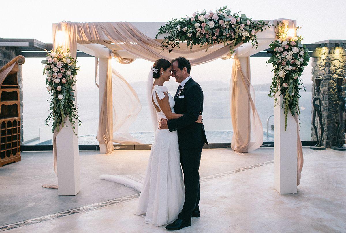 boda de maria josé y jordi en Santorini