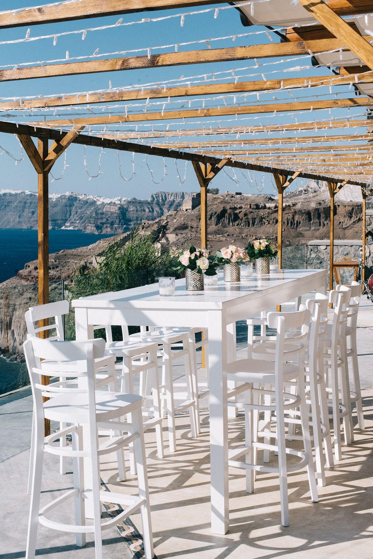 boda en la isla de santorini
