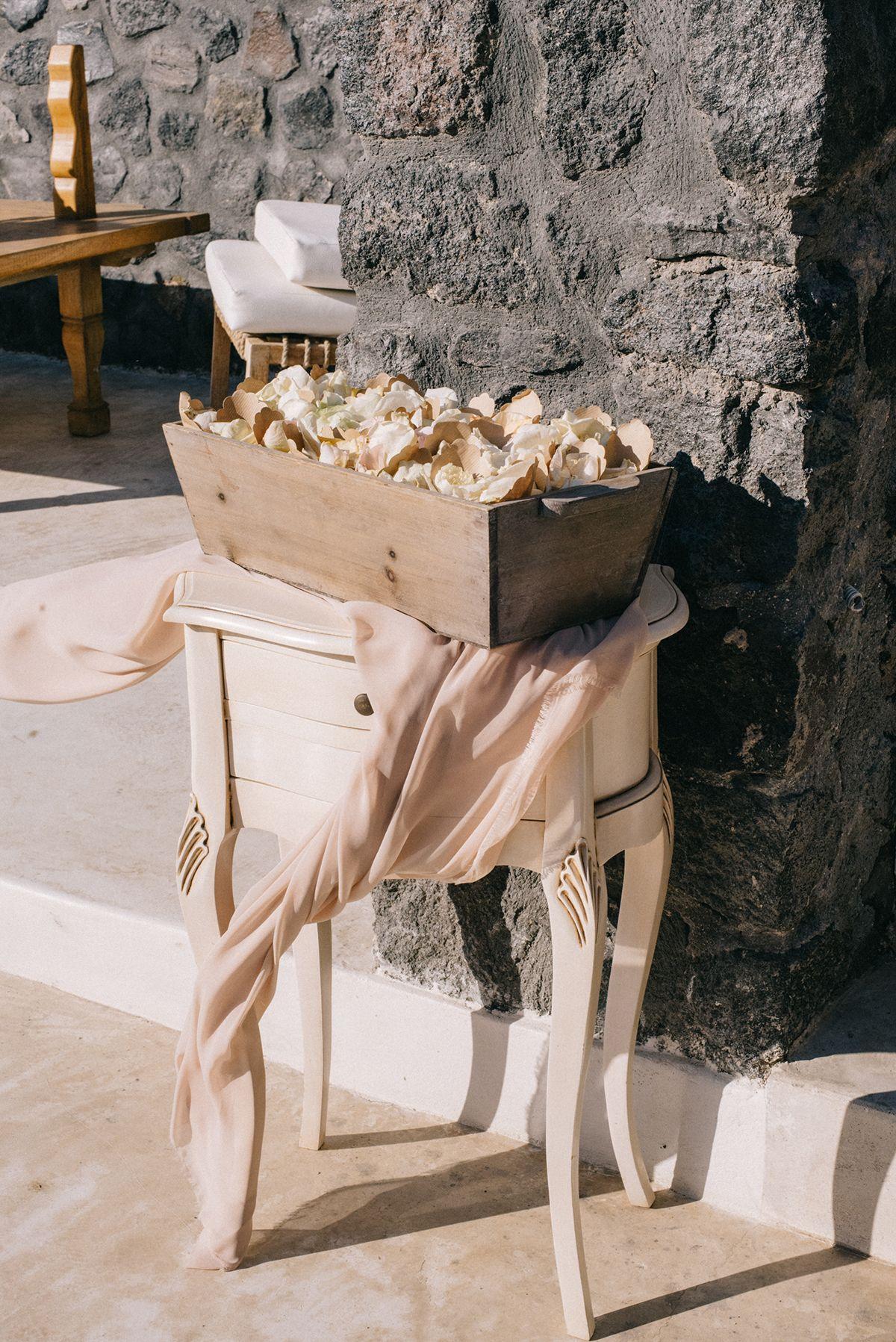 decoración boda santorini