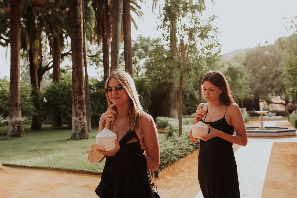 Cocos en la boda