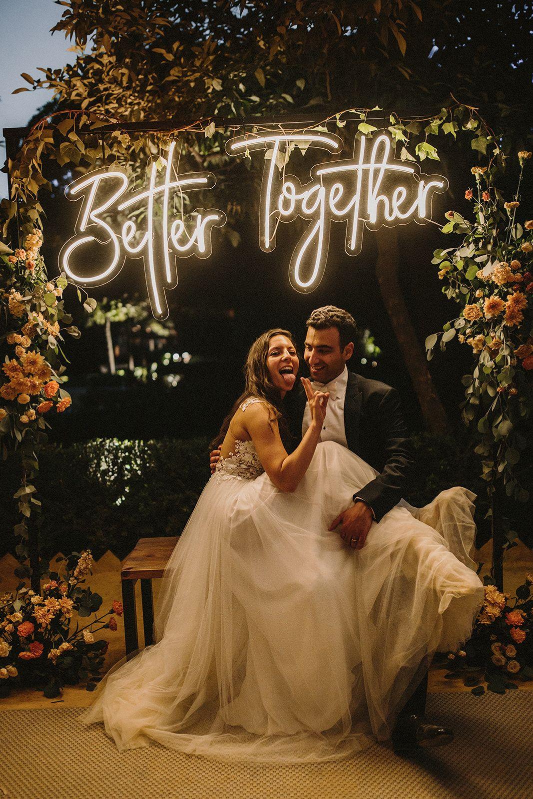 Neón boda