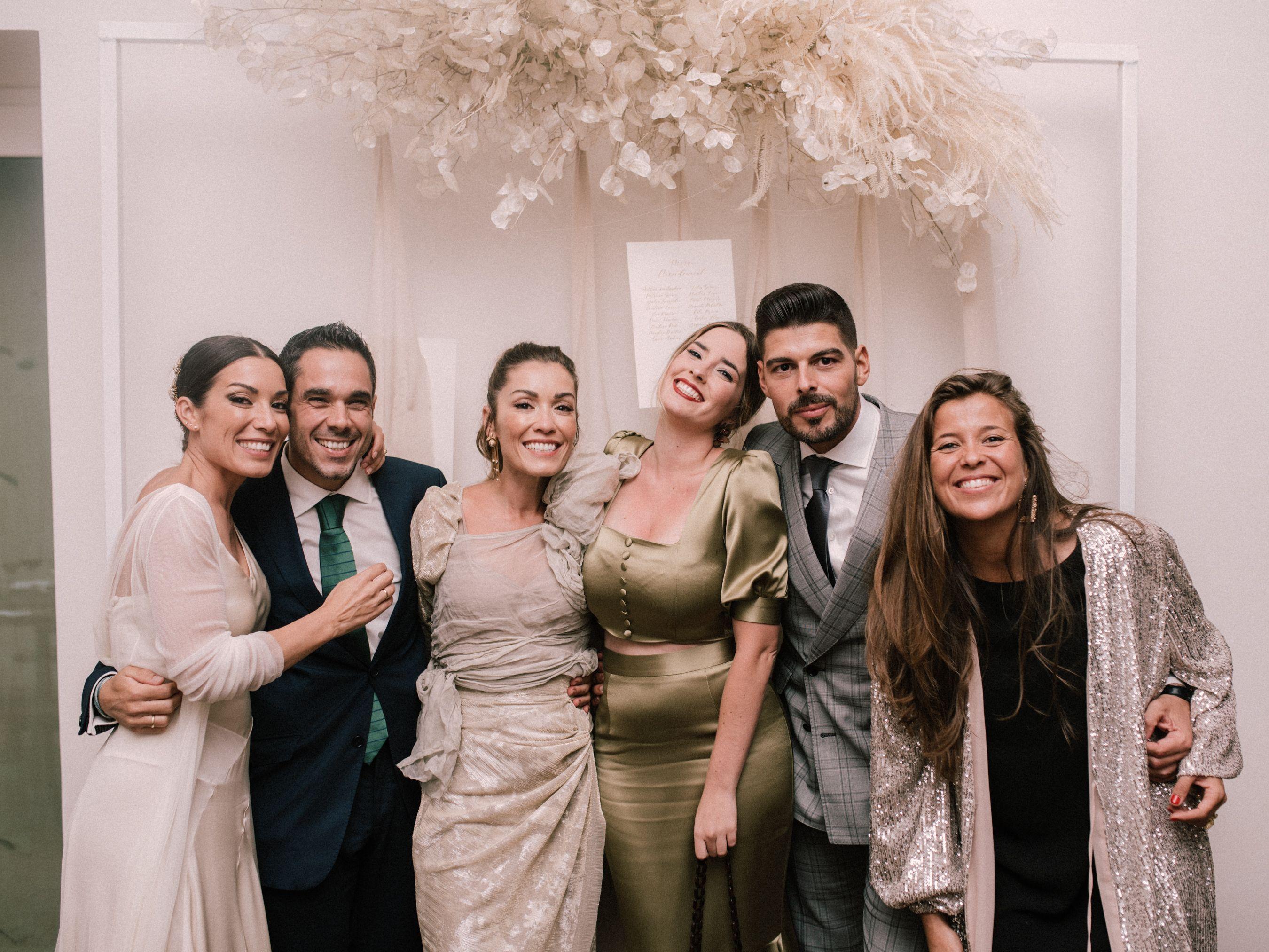 Lidia, Alberto, Patricia, Cristina, Nicolás y Silvia Sánchez - Boda de Lili